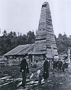 Firsts Photo Posters - The Original 1859 Drake Oil Well Poster by Everett