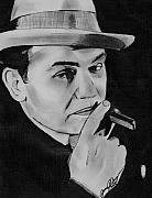 Celebrity Portraits Drawings Posters - The Original Gangster- Edward G. Robinson Poster by Jason Kasper