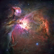 Composite Photographs Framed Prints - The Orion Nebula Was Born In Enormous Framed Print by Nasa