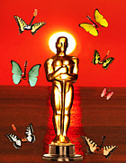 Los Angeles Digital Art Metal Prints - The Oscars  Metal Print by Eric Kempson