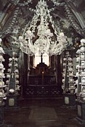 Karlovy Framed Prints - The Ossuary at Sedlec 1 Framed Print by Richard Reeve