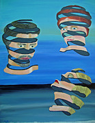 Acrylic On Canvas - The other Woman inspired by Escher by Eric Kempson