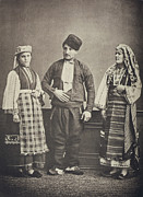Photogravure Photo Framed Prints - The Ottoman Empire, Studio Portrait Framed Print by Everett