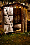 Sales Metal Prints - The Outhouse at Fort Nisqually Metal Print by David Patterson