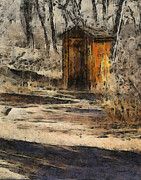 Outhouses Acrylic Prints - The Outhouse Acrylic Print by Ernie Echols