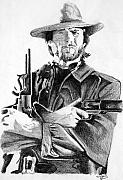 Wales Drawings - The Outlaw Jose Wales by Kollis Branch