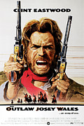 Clint Eastwood Art Framed Prints - The Outlaw Josey Wales, Clint Eastwood Framed Print by Everett