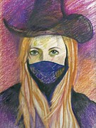 Outlaw Drawings - The Outlaw by Kim Hegedus