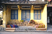Baskets Photos - The Outside Of A House In Hoi An by Gina Martin