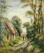 People. Talking Posters - The Outskirts of Berneval  Poster by Pierre Auguste Renoir