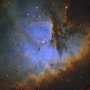 Cassiopeia Constellation Prints - The Pacman Nebula Print by Ken Crawford