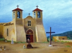 Taos Painting Prints - The Padres Prayer Print by Gordon Beck
