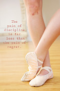Dance Shoes Posters - The Pain of Discipline Poster by Kim Fearheiley