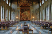 Painted Hall Metal Prints - The Painted Hall Metal Print by Peter L Wyatt