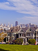 Alamo Square Framed Prints - The Painted Ladies Framed Print by Alex Cassels