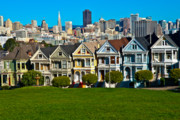 Alamo Square Framed Prints - The Painted Ladies Framed Print by Harry Spitz