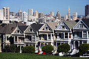 Alamo Square Framed Prints - The Painted Ladies Framed Print by Steve Parr