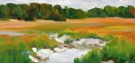 Salt Air Paintings - The Painted Marsh by Barbara Benedict Jones