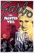 Lobbycard Photo Framed Prints - The Painted Veil, Greta Garbo, 1934 Framed Print by Everett
