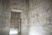 Amun Photo Posters - The Painted Walls Of The Ancient Temple Poster by Taylor S. Kennedy