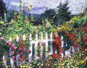 Most Popular Paintings - The Painters Palette Garden by David Lloyd Glover
