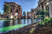 Color Green Photo Framed Prints - The Palace of Fine Arts Framed Print by Everet Regal