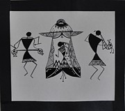 Black And White Drum Posters - The palanquin Poster by Reshma Rout