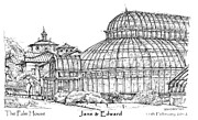 Planners Drawings Posters - The Palm House for Jane and Edward Poster by Building  Art