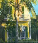 New Orleans Scenes Paintings - The Palm House by Karla Gilson Hunt