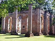18th Century Prints - The Palmetto Phoenix Old Sheldon Church Ruins Print by Elena Tudor