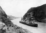 Ships And Boats Framed Prints - The Panama Canal, Circa 1931 Framed Print by Everett
