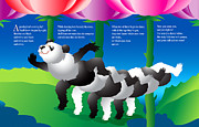 Children Stories Drawings - The Pandapillar by Gene Rosner