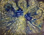 Van Gogh Tapestries Textiles - The Pandorica Opens by Alizey Khan