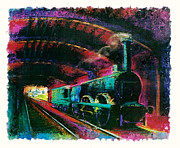 Locomotive Pastels Prints - The Panet Print by Sean OConnor