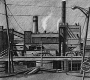 Everett Prints - The Paper Mill in Everett Print by RX Bertoldi