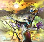 Bible Drawings Prints - The Parable of The Sower Print by Miki De Goodaboom