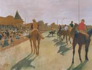 Jockeys Framed Prints - The Parade Framed Print by Edgar Degas