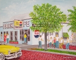 Park Paintings - The Park Shoppe by Frank Hunter