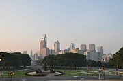 Franklin Metal Prints - The Parkway and Center City Philadelphia Metal Print by Bill Cannon