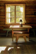 Cabin Window Photos - The Parlour by Heiko Koehrer-Wagner