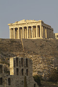 Greek Classic Framed Prints - The Parthenon On The Acropolis Framed Print by Richard Nowitz