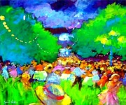 Concert Painting Originals - The party in the woods by Valtier