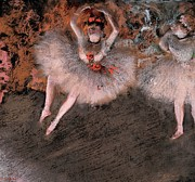 Ballet Dancers Pastels Metal Prints - The Pas Battu Metal Print by Edgar Degas