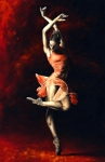 Orange Framed Prints - The Passion of Dance Framed Print by Richard Young