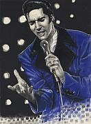 Rock N Roll Drawings Originals - The Passion of Elvis by Kelvin Winters