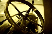 Art Museum Prints - The Past at the Wheel Print by Cathie Tyler