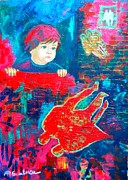 Parents Mixed Media Originals - The Past Is Pink  The Present Is Blue  Future I Don T Know by Ana Maria Edulescu