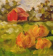Pumpkins Paintings - The Patch by Angela Sullivan