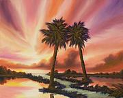 Palmetto Trees Prints - The Path Ahead Print by James Christopher Hill