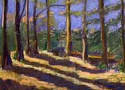 Broken Pastels - The path in the woods by Elizabeth Sartell-Beamer